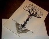 """Valentine """"WE"""" Tree Love Card Romantic Heart Roots 5x7 Greeting Card Blank inside by Agorables Heart"""
