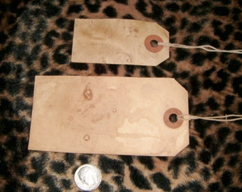 Free S/H****30****  Primitive MIXED LOT  Hang Tags,with String, grunged,vintage,rustic,2 sizes