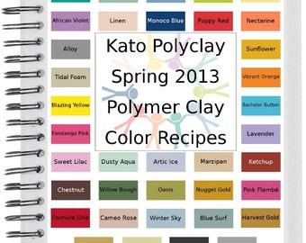 Kato Spring Summer 2013 Polymer Clay Color Recipes Ebook