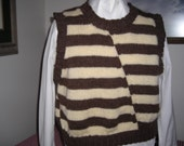 Striped Vest in Brown and Beige by Never Felt Better