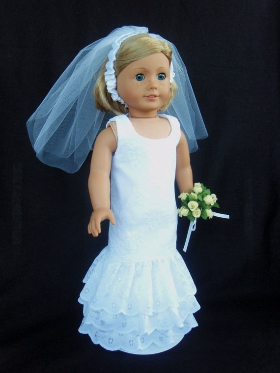 Unavailable listing on etsy for American girl wedding dress