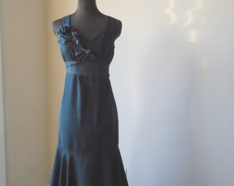 Black Wedding Dress - Dark Noir Alternative Tattered Gothic Bridal Gown - One of a Kind Elven Faerie Handmade Bride Frock