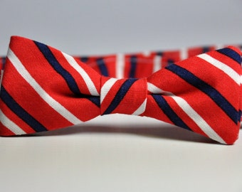 Red White and Blue Striped Bowtie for Boys Patriotic Kids  Bow Tie