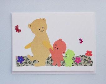 Three Bears - print card by Emily Lin