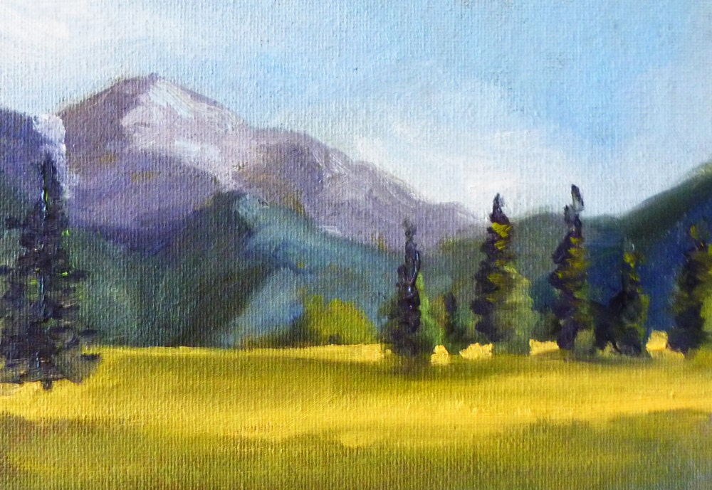 Montana Field Landscape Oil Painting Original On Canvas