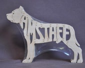 American Staffordshire Amstaff  Dog Puzzle Wooden Toy Hand Cut with Scroll Saw