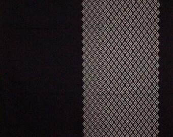 Large Furoshiki Navy 'Diamond Mums' Japanese Fabric Wrapping Cloth 100cm w/Free Shipping