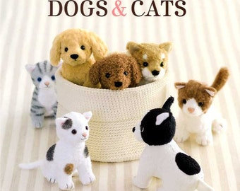 Dogs and Cats Stuffed Animals - Japanese Craft Book