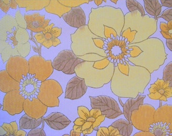 Buttercups vintage wallpaper 1 meter gold yellow for wall or craft