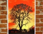 Southern Sunset - Hand-Printed Art Print