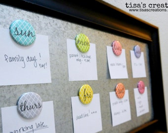 Days of the Week Button Magnets