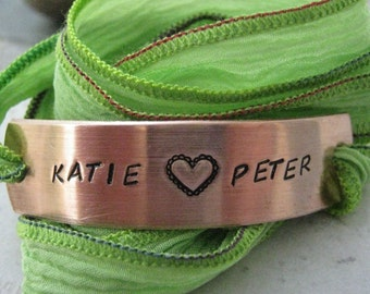Personalized Anniversary Bracelet, Couples Bracelet, Girlfriend Bracelet, Wife Bracelet, anniversary gift, Valentine's Day Gift