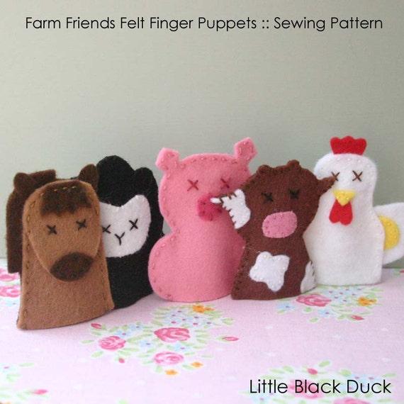 Pattern: Farmyard Friends Felt Finger Puppets