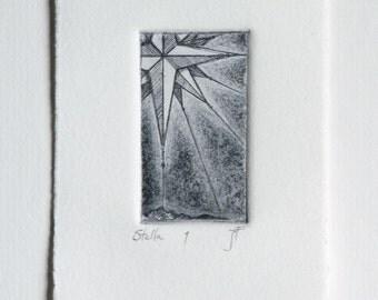 Stella - fine art intaglio etching