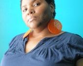SHANA Dangle Crochet Earring in Orange