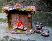 Faery Fireplace and Baskets Custom Order