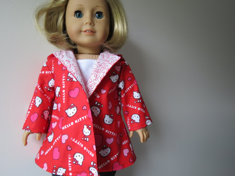 Little Hello Kitty Valentine coat for American Girl / 18 inch