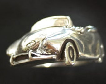 1960's VW Karman Ghia Angled Wrap Ring in Sterling Silver