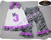 Custom Boutique Clothing Zebra Dots Pillowcase Tunic Dress Top Ruffle Pant Outfit Set 3 6 9 12 18 24 month size 2T 2 3T 3 4T 4 5T 5 6 7 8