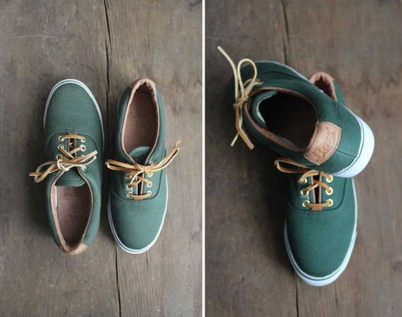 green tennis sneakers bass shoes canvas sneakers 65