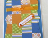 Paper quilted Birthday card