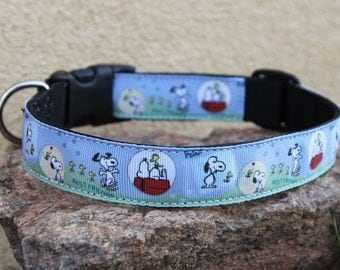 Dog Collar with Snoopy Theme - Peanuts - Snoopy and Tweetey Bird - Snoopy collar