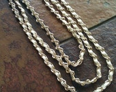 Angelic Leather and Chain 3 Strand necklace