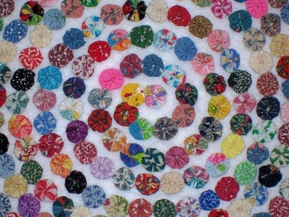 "2"" Fabric Flowers 50 YoYo Headband Wedding Flowers Birthday Party Wedding Rosette Hair Clip Bow Bobby Pin Scrapbook Wholesale Handmade"