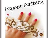 Tattoo Swirls Peyote Pattern Bracelet - For Personal Use Only PDF Tutorial