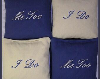 Wedding Cornhole Bags I DO and ME TOO Set of 8 bags