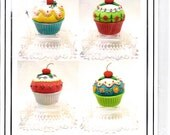 Peaceful Designs Cupcake Pin Cushions With a Cherry on Top Sewing Pattern UNCUT