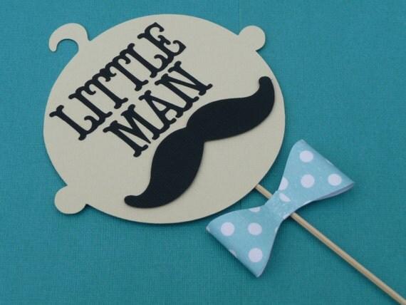 baby shower centerpiece mustache birthday bash original design bow