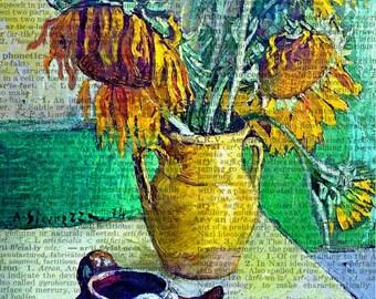 sunflower masterpiece print