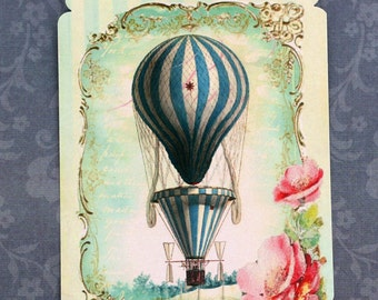 Hot Air Balloon French Chic Gift Tags