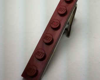 Tie Clip made with Dark Red LEGO® plate