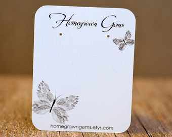 Earring Card  Customized with Your Text - Butterfly Design Jewelry Display  DS011