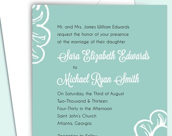 Wedding Invitation Package - Floral - Customized - DIY Printable