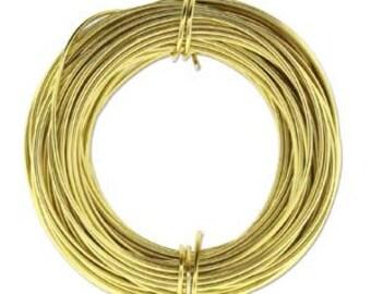 18 Gauge 39 Feet LIGHT GOLD Anodized Aluminum Craft Wire 420237