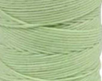 Irish Waxed Linen Crawford Cord 4 Ply 10 Yards MINT GREEN 420228