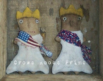 Americana Lady Liberty doll 216e Primitive Crows Roost Prims epattern