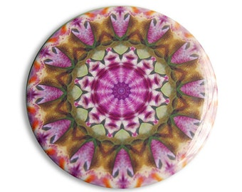 Mandala Pocket Mirror in Purple and Green - Perfect for Thank You Gifts, Teacher Gifts, and Wedding Favors - Transformation Mandala