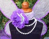 Purple and Lavender Rose Headband - Custom Matching Flower Headband - Made to Match Your Tutu