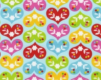 Ella Hearts Flannel by Print and Pattern for Robert Kaufman Fabrics - FLANNEL, Yard