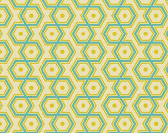Joel Dewberry's Notting Hill Collection - Hexagons in Aquamarine, Yard