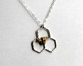 Mini Sterling Silver Honeycomb Necklace by Rachel Pfeffer