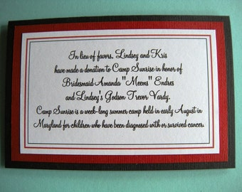 4x6 Custom Printed Wedding Signs - Any Message, Color or Style