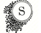 """Personalized Printable Initial """"S"""" Note Card."""