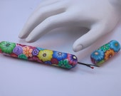 Colorful Millefiori Floral Polymer Clay Handled Seam Ripper, Sewing Notions, Quilting,Embroidery, Needlepoint
