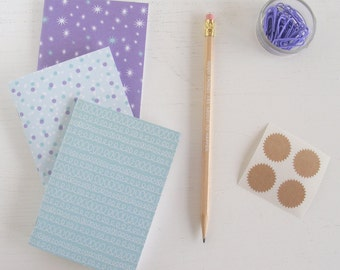 set of 3 pocket journals - celebrate in blu slushy