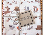 Cream Fox Trails Pair of Reversible Cloth Lunch Napkins